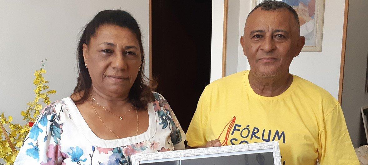 Marinete Silva e Antônio Francisco, os pais de Marielle Franco