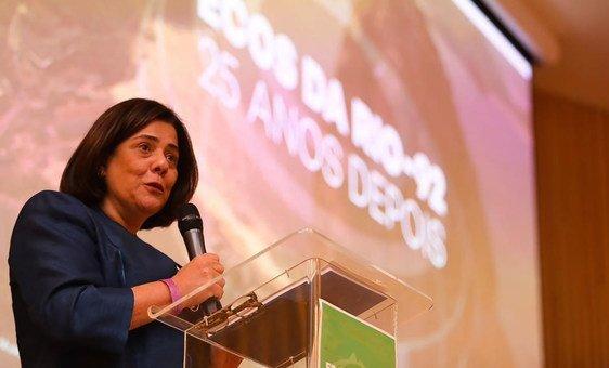A representante da ONU Meio Ambiente no Brasil, Denise Hamú