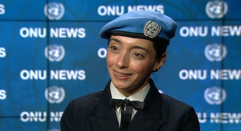 La capitana de corbeta brasileña, Marcia Andrade Braga, ha sido galardonada como Mejor Defensor Militar de las Cuestiones de Género.
