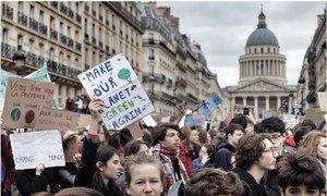 Inspirados por Greta Thunberg, estudiantes de más de 120 países se tomaron las calles para pedir acción contra el cambio climático.