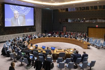 Intervention du Représentant spécial et chef de la Mission d'appui des Nations Unies en Libye, Ghassan Salamé, par visioconférence devant le Conseil de sécurité (archive)