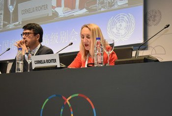 IFADs vice-president, Cornelia Richter, speaking at the UN's Second High-Level Conference on South-South Cooperation, or BAPA+40, in the Argentine capital of Buenos Aires.