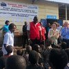 UN humanitarian Chief Mark Lowcock and UNICEF Executive Director Henrietta Fore were in the Democratic Republic of the Congo, to see firsthand the extent of the ongoing humanitarian crisis. March 2019.