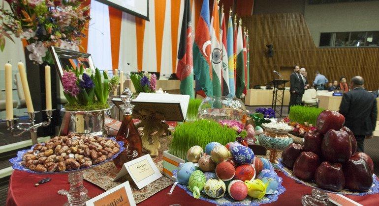 Во время празднования Навруза страны приносят в ООН традиционные угощения