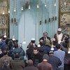 联合国秘书长古特雷斯3月22日访问了位于纽约曼哈顿上东区的伊斯兰文化中心