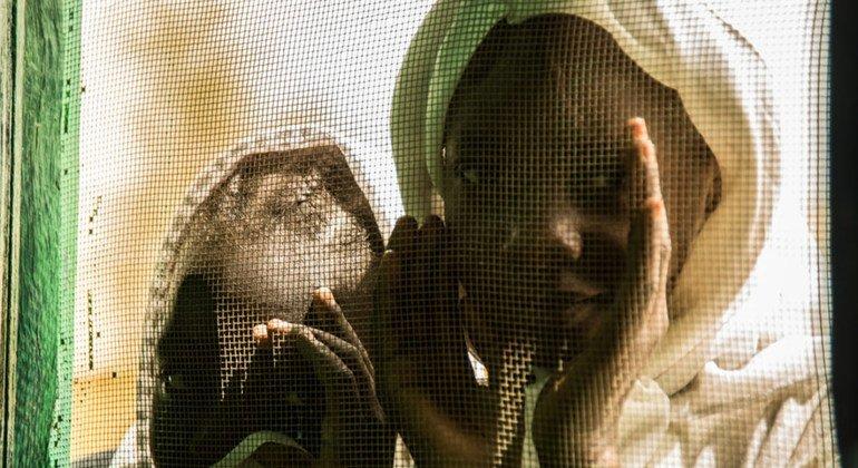 Niñas en la escuela de Gumam, en Kassala, Sudán
