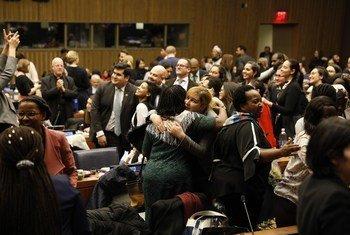 Participantes da CSW 63 na sede da ONU em Nova Iorque