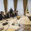 Malian President Ibrahim Boubacar Keïta receives the UN Security Council delegation at Palais de Koulouba in Bamako. March 2019.