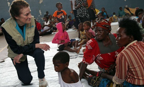 Henrietta Fore esteve na Beira, Moçambique, onde conheceu vítimas do ciclone Idai