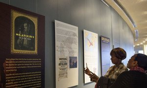 Exhibition for the International Day of Remembrance of the Victims of Slavery and the Transatlantic Slave Trade at UN Headquarters in New York, March, 2019.
