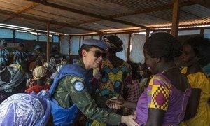 La casco azul brasileña Marcia Andrade Braga está desplegada en la misión de la ONU en República Centroafricana (MINUSCA)