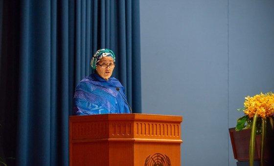 Vice-secretária-geral da ONU, Amina Mohammed, fez o discurso de abertura do Fórum