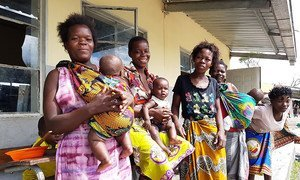 Displaced women and their babies in Beira, the port city in Mozambique that was slammed by Cyclone Idai.