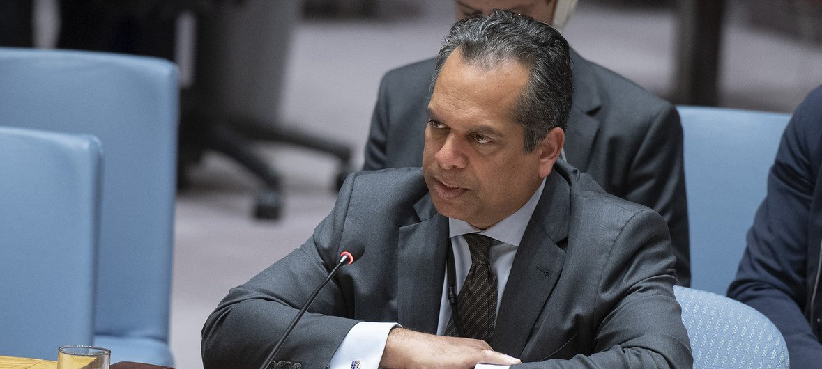Ramesh Rajasingham, Director of the Coordination Division of the United Nations Office for the Coordination of Humanitarian Affairs (OCHA), briefs the Security Council on the situation in the Middle East (Syria).