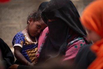 Una clínica móvil en Aden, Yemen.