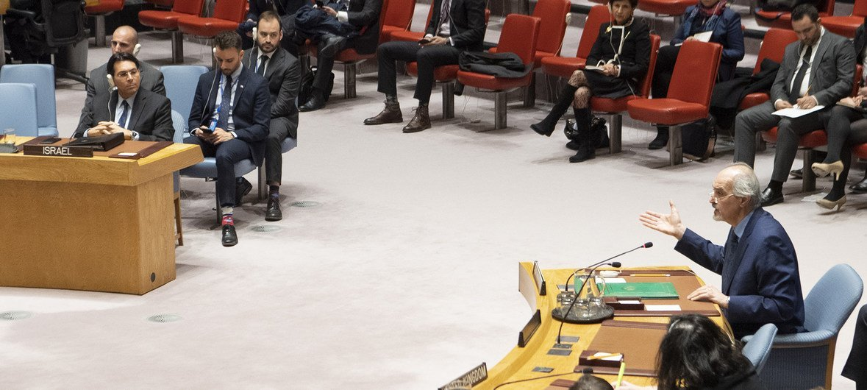 Sesión del Consejo de Seguridad sobre la situación en el Oriente Medio el 27 de marzo de 2019.