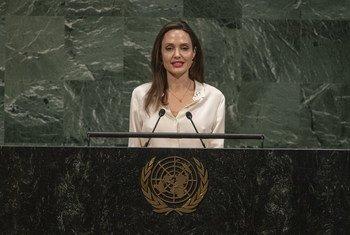 A atriz Angelina Jolie é embaixadora da Boa Vontade da Agência de Refugiados da ONU, Acnur.