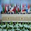 2019年3月31日,联合国秘书长古特雷斯在阿拉伯联盟峰会上发表讲话。
