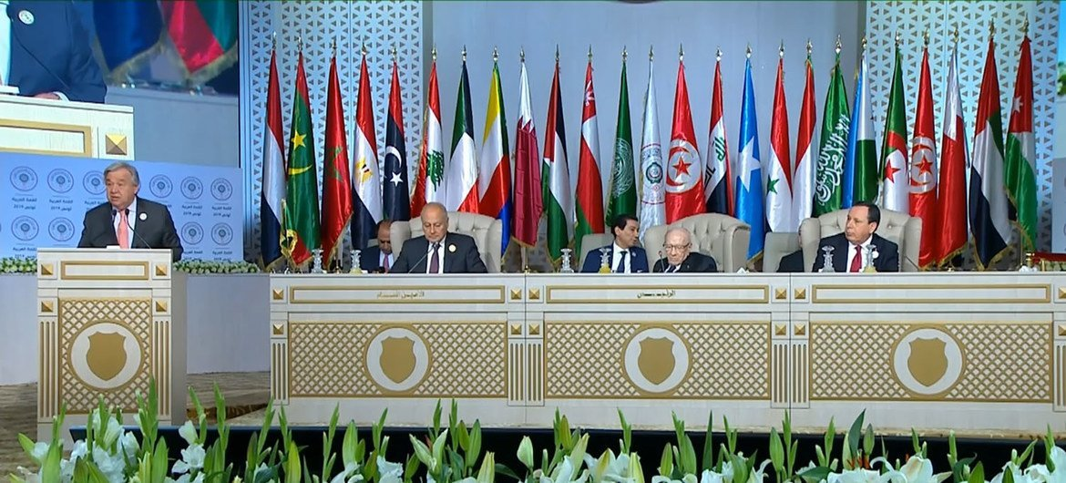 United Nations Secretary-General delivers his remarks remarks to the Summit of the League of Arab States, Tunis, 31 March 2019.
