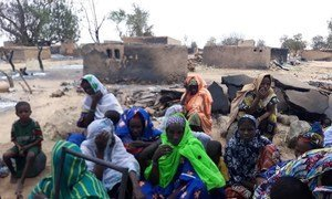 Local population in Ogossagou, a village in the Mopti region of Mali, which was attacked on 23 March 2019, leaving over 160 people dead, 70 injured, hundreds displaced, and numerous huts and granaries burnt.