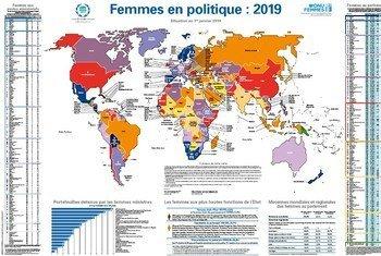 Un ministre sur cinq est une femme d'après la nouvelle Carte des femmes UIP/ONU-Femmes