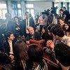 Le Secrétaire général de l'ONU António Guterres s'entretient avec les étudiants tunisiens sur le changement climatique, les inégalités et la sécurité.