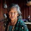 Una mujer de edad avanzada en el estado de Shan del Norte, en Myanmar.