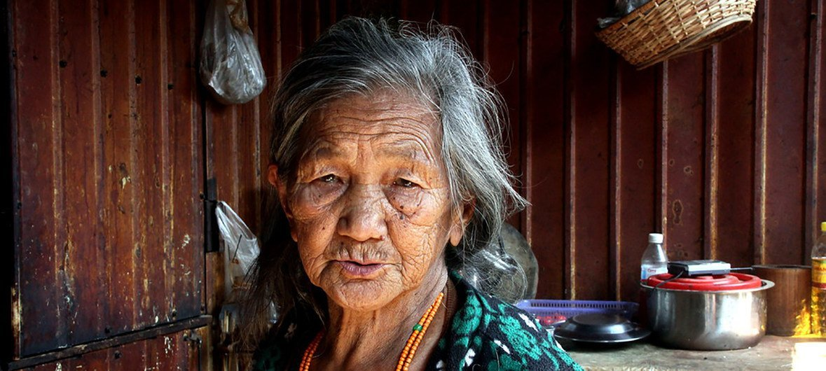Elderly woman in Muse Township, Northern Shan State, Myanmar, March 2018.