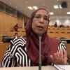 الدكتورة لمياء عبد الغفار خلف الله الأمينة العامة للمجلس القومي للسكان في السودان خلال حوار مع أخبار الأمم المتحدة على هامش مشاركتها في اجتماعات الدورة الثانية والخمسين للجنة الأمم المتحدة للسكان والتنمية.