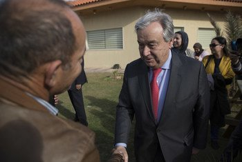 United Nations Secretary-General António Guterres during his visit to the Libyan capital, Tripoli (April 2019).