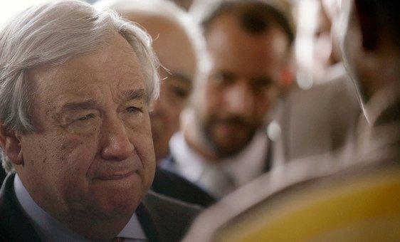 Guterres expressou as suas condolèncias às famílias das vítimas do ciclone Kenneth.