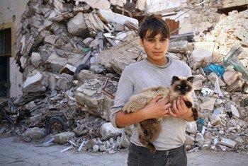 محمد، 16 سنة، يعيش في منطقة الصابري في بنغازي. فر مع والديه وأشقائه الأربعة من منزلهم عام 2015 بسبب الأوضاع الأمنية.