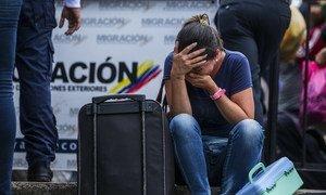 哥伦比亚的委内瑞拉移民。据联合国数据显示,过去一年中,每天约有5,000人越过边境离开委内瑞拉。