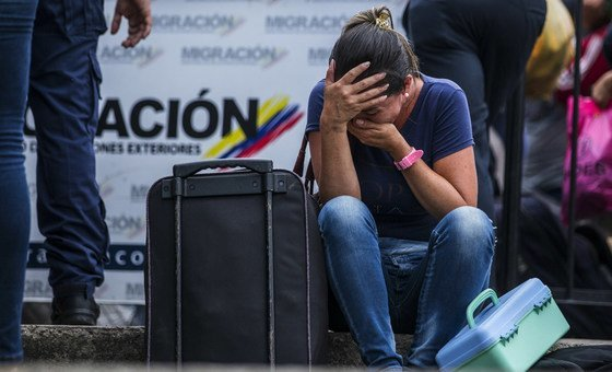 Venezuelan migrant in Colombia. About 5,000 people have been crossing borders daily to leave Venezuela over the past year, according to UN data. Colombia, April 2019.