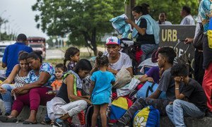 Venezuelan migrants in Colombia. About 5,000 people have been crossing borders daily to leave Venezuela over the past year, according to UN data. Colombia, April 2019.