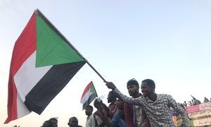 Protesters take to streets in the Sudanese capital, Khartoum. (11 April 2019)