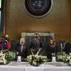 إحياء اليوم الدولي للتفكر في الإبادة الجماعية التي وقعت عام 1994 ضد التوتسي في رواندا. 12 أبريل/نيسان 2019.