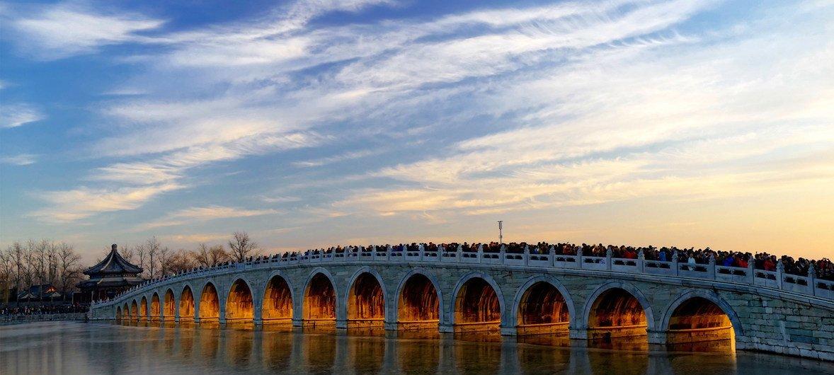 联合国教科文组织世界文化遗产颐和园。