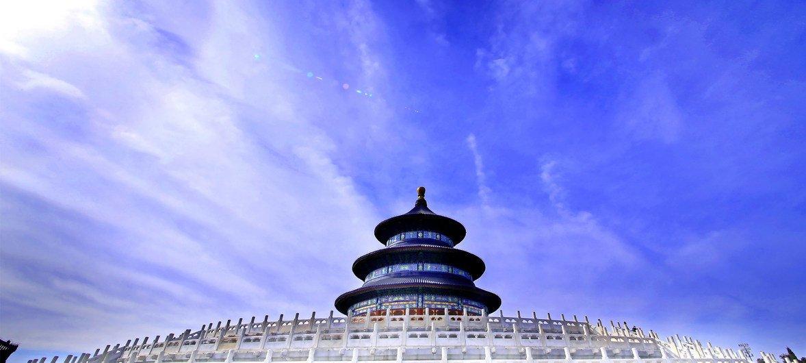 联合国教科文组织世界文化遗产天坛。