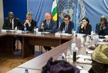Une mission des Nations Unies, de l'Union Africaine et de l'Union Européenne a rencontré le 16 Avril 2019 à Bangui des femmes leaders centrafricaines appuyant la mise en œuvre de l'accord de paix en RCA.