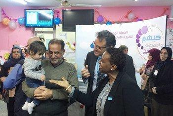ممثلا منظمتا الصحة العالمية واليونيسف يعلنان نجاح الحملة الهادفة إلى تطعيم أكثر من 6 ملايين طفل عراقي