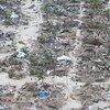 Muitas comunidades foram completamente destruídas no distrito de Macomia, na província de Cabo Delgado, pelos efeitos do ciclone Kenneth em Moçambique.