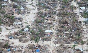 Efeitos do ciclone Kenneth em Moçambique.