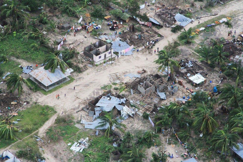 4月25日,莫桑比克北部的德尔杜加角(Cabo Delgado)地区遭受了肯尼斯热带气旋的重创。