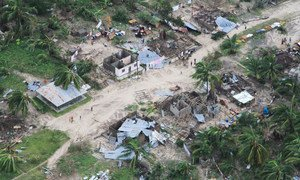 Le district de Macomia, à Cabo Delgado, au Mozambique, a été durement touché par le passage du cyclone Kenneth le 25 avril.