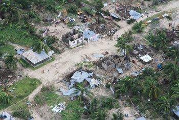O distrito de Macomia, em Cabo Delgado, foi fortemente afetado pelo ciclone Kenneth.