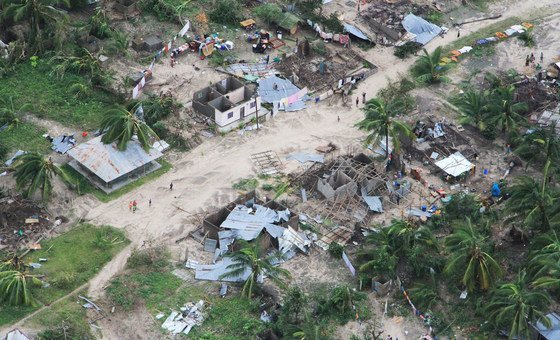 Macomia district, in Cabo Delgado, Mozambique, has been hard-hit by Cyclone Kenneth, which made landfall on 25 April.