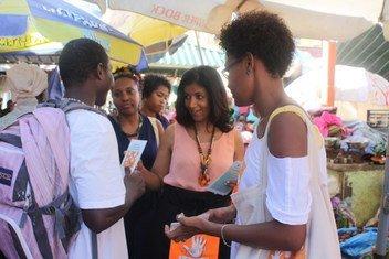 Campanha 16 de Ativismo contra a Violência Baseada no Gênero, na cidade da Praia, em Cabo Verde.