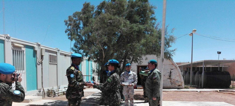 A brasileira Andréa Firmo liderou uma base de observadores militares no Saara Ocidental.