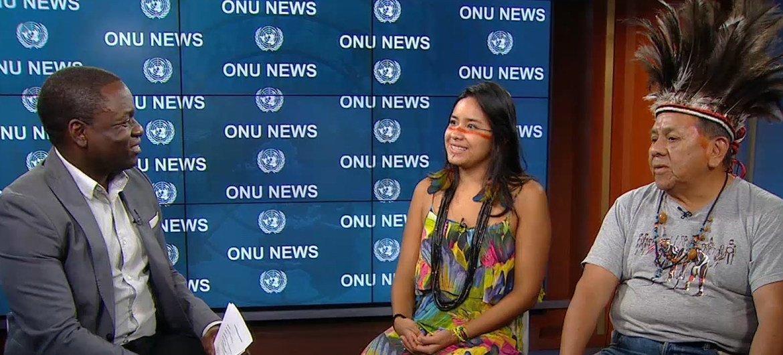 Marcos Terena e Taily Terena participam no Fórum Permanente sobre Assuntos Indígenas nas Nações Unidas